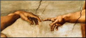 michelangelo-buonarroti-adams-skapelse-ca-1510-detalj - Kopia